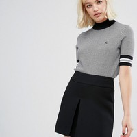 Fred Perry Houndstooth Knit Jumper at asos.com