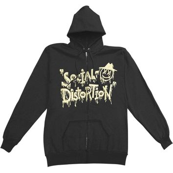 Social Distortion Men's  X'D Eye Zippered Hooded Sweatshirt Black