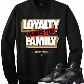 Jordan 4 Black Laser Gum Crewneck Sweater - LOYALTY RK