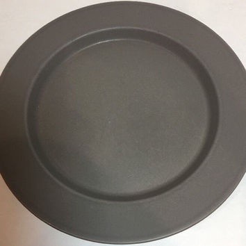 Calvin Klein Earth 1 Pc. Salad Plate Stoneware Japan All Matte Gray 9 1/8""