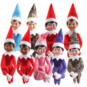 10pcs 10 Style 37 cm Christmas Elf Plush toys On The Shelf Elves Xmas dolls For Kids Holiday And Christmas Gift