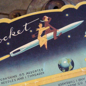 Vintage Sewing Needle Book Rocket Made in Japan by ITSYOURCOUNTRY