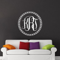 Monogram Wall Decals Family Name Sticker Vinyl Letter Custom Personalized Decal Home Bedroom Decor Wedding Gift T46