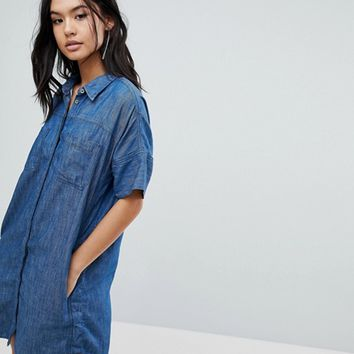 Blank NYC Denim Shirt Dress at asos.com