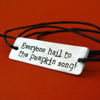 Nightmare Before Christmas Bracelet - Everyone Hail to the Pumpkin Song - tie on cotton cord bracelet