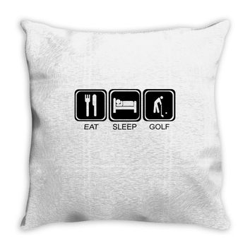 eat,sleep,golf Throw Pillow