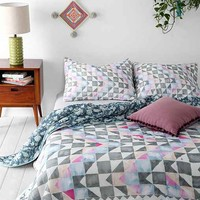 Magical Thinking Watercolor Ralli Quilt- Grey Multi Full/queen