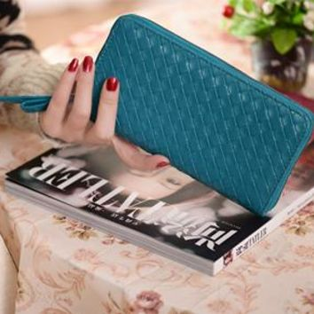 Clearance ! classic vintage fashion design knitted wallet hot selling women wallets purse with 8 colors for choosing