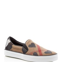 BurberryGauden Heart Slip On Sneakers