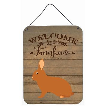 Rex Rabbit Welcome Wall or Door Hanging Prints CK6913DS1216