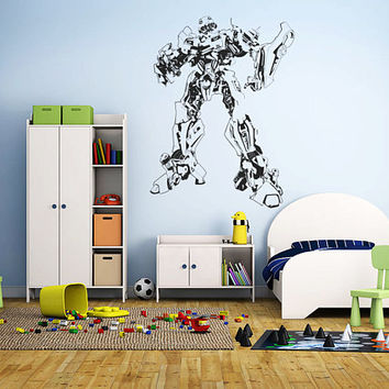 Transformers Wall Decal,Prime Wall Sticker,Bumblebee wall decal,Kids Wall sticker,Bedroom Wall Sticker,Nursery wall decal kau 257