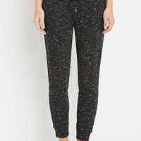 Striped-Waist Marled Sweatpants