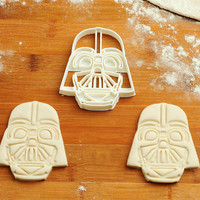 Darth Vader Cookie Cutter Star Wars birthday favor party cake topper Fondant supplies gift cupcake fabric custom baby ideas design girl C050