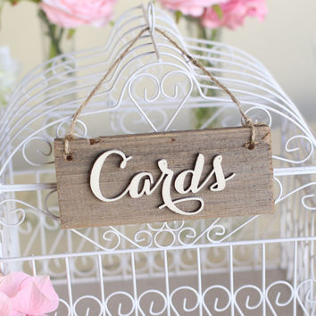 Rustic Cards Sign Barn Wood Countryside Wedding (Item Number MHD100007) Design Morgann Hill Designs