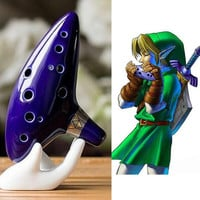 12 Hole Blue Ocarina Ceramic Alto C Legend of Zelda Ocarina Flute Instrument (Color: Blue) = 1945727364