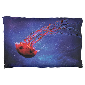 Galaxy Jellyfish Pillow Case