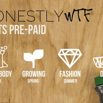HonestlyWTF 4 Kits Pre-Paid / 1 Year