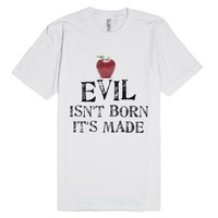 the evil queen-Unisex White T-Shirt