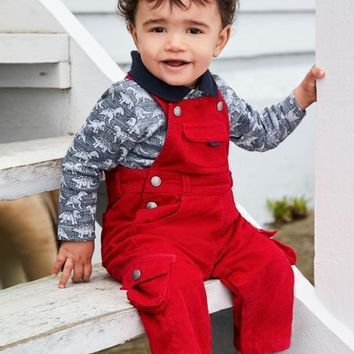 Red Cord Overalls - Infant & Toddler