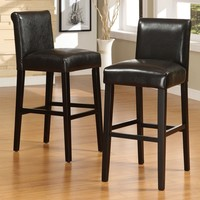Home Creek Faux-Leather Pub-Height Chairs - Set of 2