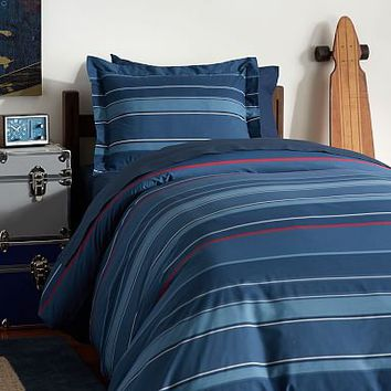 Cardinal Stripe Deluxe Value Duvet Set