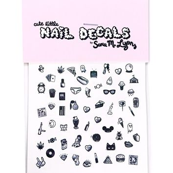 Cute + Sleazy Nail Decals