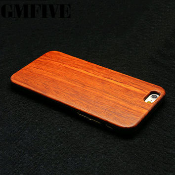Luxury Handmade For Iphone 5 5s  Wood Case Retro Genuine Rosewood Bamboo Wood Cover With Carving Design Wood Case Cover