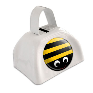 Bumble Bee Party Girl Birthday White Cowbell Cow Bell