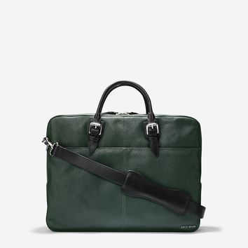 Truman Pebble Leather Top Zip Attache
