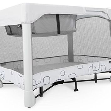 4Moms Breeze Classic Portable One Step Open Close Baby Playard Crib Bassinet NEW