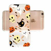 Pumkin Ghost Black Cat Pattern Halloween Slim iPhone 7/8 Plus Case, Clear iPhone Hard Cover Case for Apple iPhone 7/8 Plus Emerishop (iPhone 7/8 Plus)