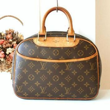 CREYON Louis Vuitton Bag Trouville monogram Vintage handbag France Authentic Tote handbag