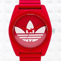 Adidas Large Santiago Watch in Red - Urban Outfitters