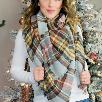 The Perfect Blanket Scarf- Khaki