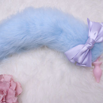 Little kitsune/kitten/fox faux fur tail