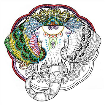 "Elephant Design Works/Zenbroidery Stamped Embroidery 12""X12"""