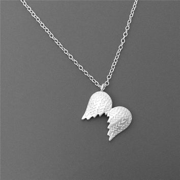 Angel Wing Necklace, Sterling Silver Angel Pendant Necklace,Angel Necklace,Wing Pendant Necklace,Angel Jewelry, Gift for Her,wing jewelry