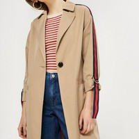Side Stripe Trench Coat