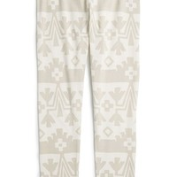 Girl's Tea Collection 'Cachi' Cotton Blend Print Leggings,