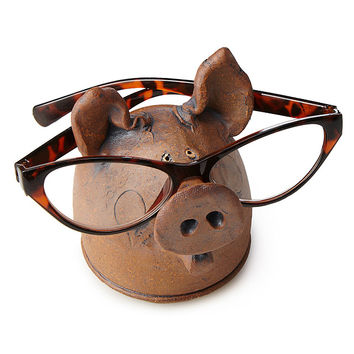 Pig Eyeglasses Holder | eyeglasses holder, pig art