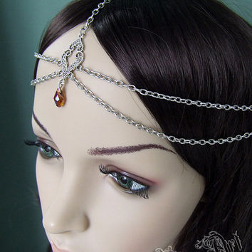Double Chain Headband Head Piece Renaissance Medieval Celtic Circlet Headpiece Headdress