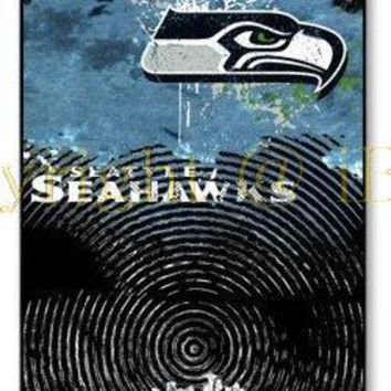 NFL Seattle Seahawks Team Logo Protector Vintage Hard plastic mobile phone Case Cover for iphone 4 4s 5 5s 6 6 plus