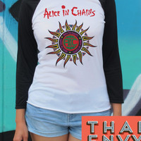 Alice in Chains Baseball Shirt - Rock Grunge Alternative Music Tops