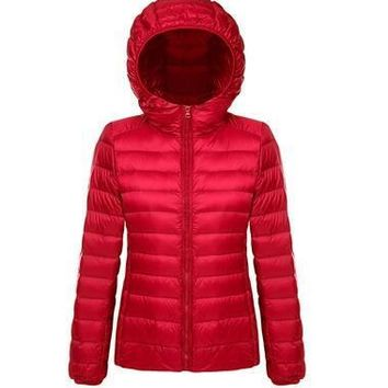 Tengo Women Light Thin Down Jacket Female Ultra Lightweight Warm Winter Coat Parkas Outwear