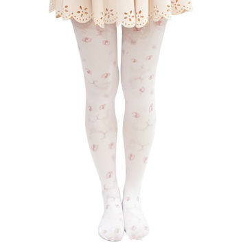 Lolita Cats Face Tights