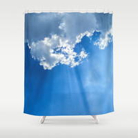 Silver lining cloud Shower Curtain by Laureenr