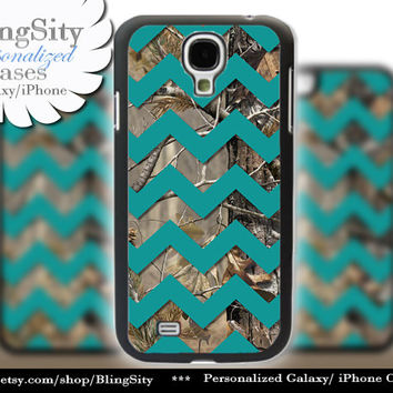 Camo Turquoise Chevron Galaxy S4 case S5 Real Tree Camo Deer Personalized RealTree Samsung Galaxy S3 Case Note 2 3 Cover
