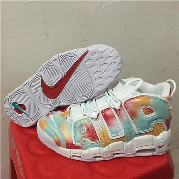 Nike Air More Uptempo Scottie Pippen Basketball Shoes White Colorful   Best Deal Online