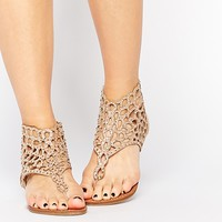 New Look Diamante Cut Out Sandals