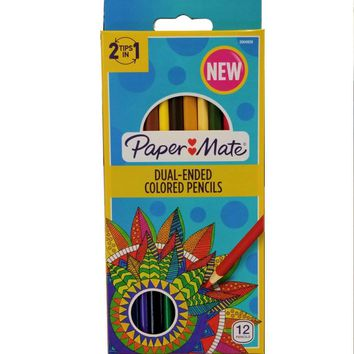 PaperMate Dual End Colored Pencils - CASE OF 48